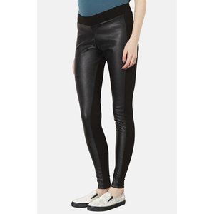 NWOT Nordstrom Faux Leather Panel Stretch Leggings